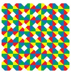 Multicoloured octagons vector