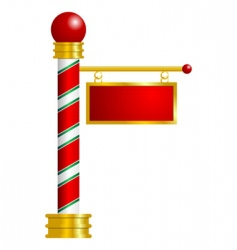 North pole sign vector