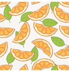 Orange slice seamless pattern vector