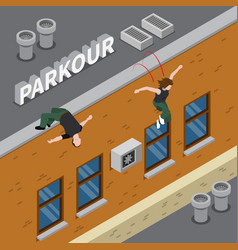 parkour isometric vector image