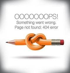 Pencil knot 404 vector