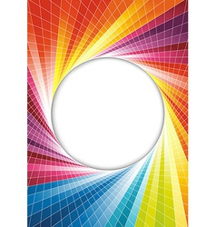 Rainbow spring background - circle vector image