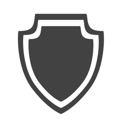 Shield protection insignia security style icon vector