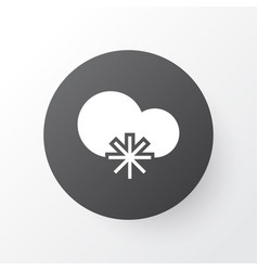 Snowy weather icon symbol premium quality vector