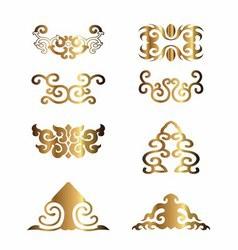 Vintage Floral Elements for Your Design vector image