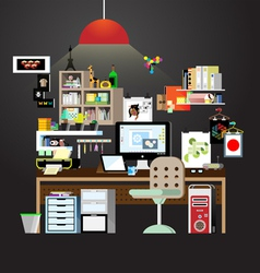 Working space in home vector image