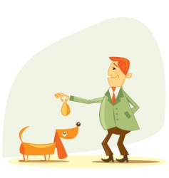 Dog owner vector