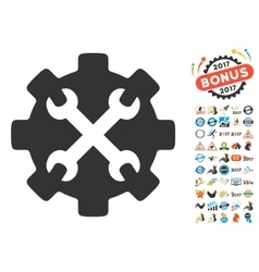 Service tools icon with 2017 year bonus pictograms vector