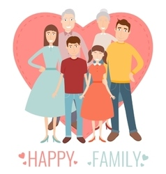 Happy family traditional family portrait vector