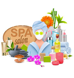 Female spa salon vector