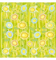 Sunflower floral background vector