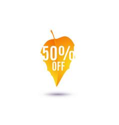 50 percent off discount vector image