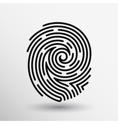 Fingerprint icon finger print id theft macro stamp vector