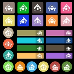 House icon sign set from twenty seven multicolored vector