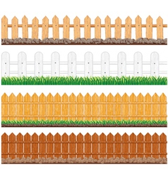seamless fences collection vector image