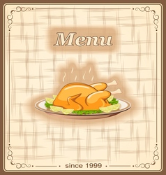 Menu for restaurant vector