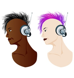 stylish girl music vector image