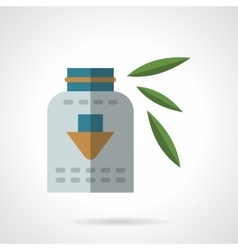 Organic dietary supplements flat icon vector