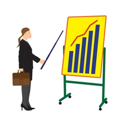 Businessman and board with the schedule vector