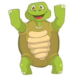 Funny turtle winner vector