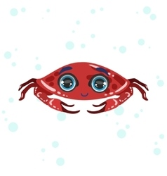 Red crab drawing vector