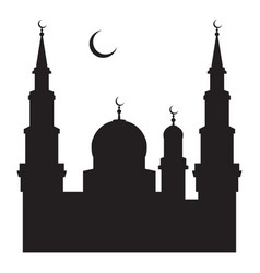 A silhouette of a mosque vector
