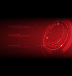 abstract red circle digital technology background vector image