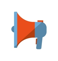 Blue and orange megaphone speaker marketing color vector