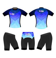 Blue colors sports t-shirt vector