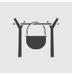 Cauldron icon vector
