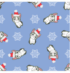 christmas seamless pattern with the image of vector image vector image