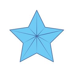 Cute modern and big star design vector