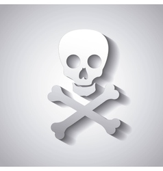 danger caution skull vector image