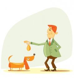 Dog owner vector
