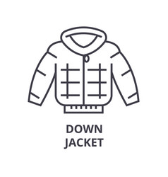 down jacket line icon outline sign linear symbol vector image vector image