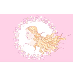 floral beauty girl vector image vector image