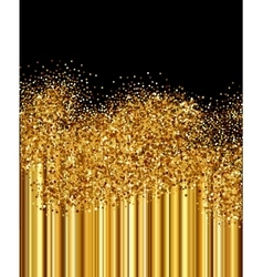 Golden sparkles background vector image vector image