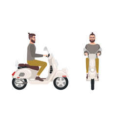 hipster man or male cartoon character with trendy vector image vector image