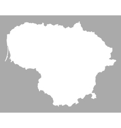 Lithuania Contour Map Vector Images - Lithuania map vector