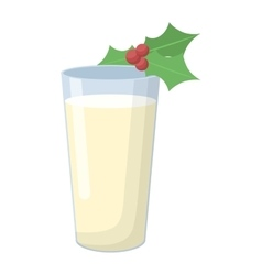 Milk glass vector image vector image