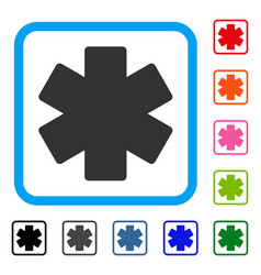 Multiply math operation framed icon vector