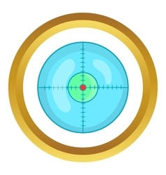 Optical sight icon vector