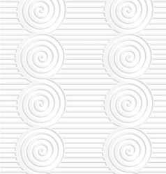 Paper white merging spirals on continues lines vector