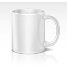 Realistic white coffee cup vector image