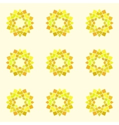 Seamless pattern with yellow mandala vector image