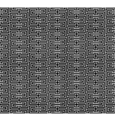 Spiral geometric black seamless vector image