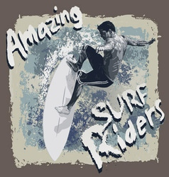 Surf Riders vector image vector image