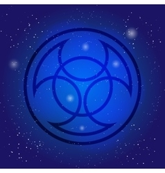 Symbol of alchemy and sacred geometry on cosmic vector