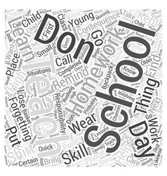 Teaching responsibility word cloud concept vector