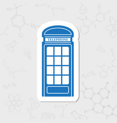 Telephone box icon vector